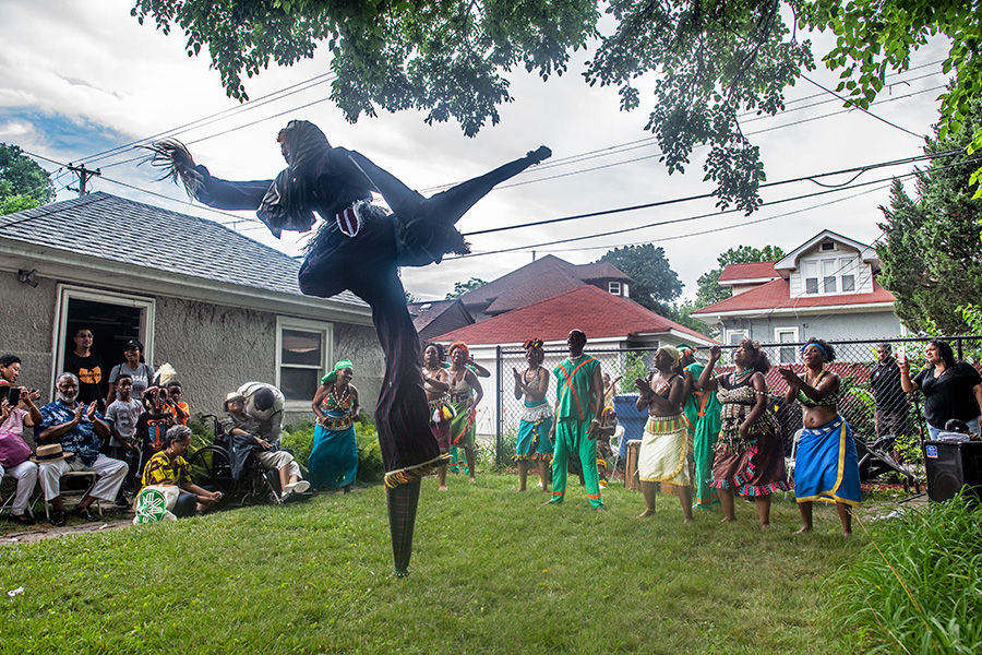 """After """"hundreds of hours of planning,"""" according to Hyde Park Jazz Festival's executive and artistic director Kate Dumbleton, Back Alley Jazz drew standing-room-only crowds to four backyards along South Paxton Street, where jazz bands and dance performers lit up the afternoon."""