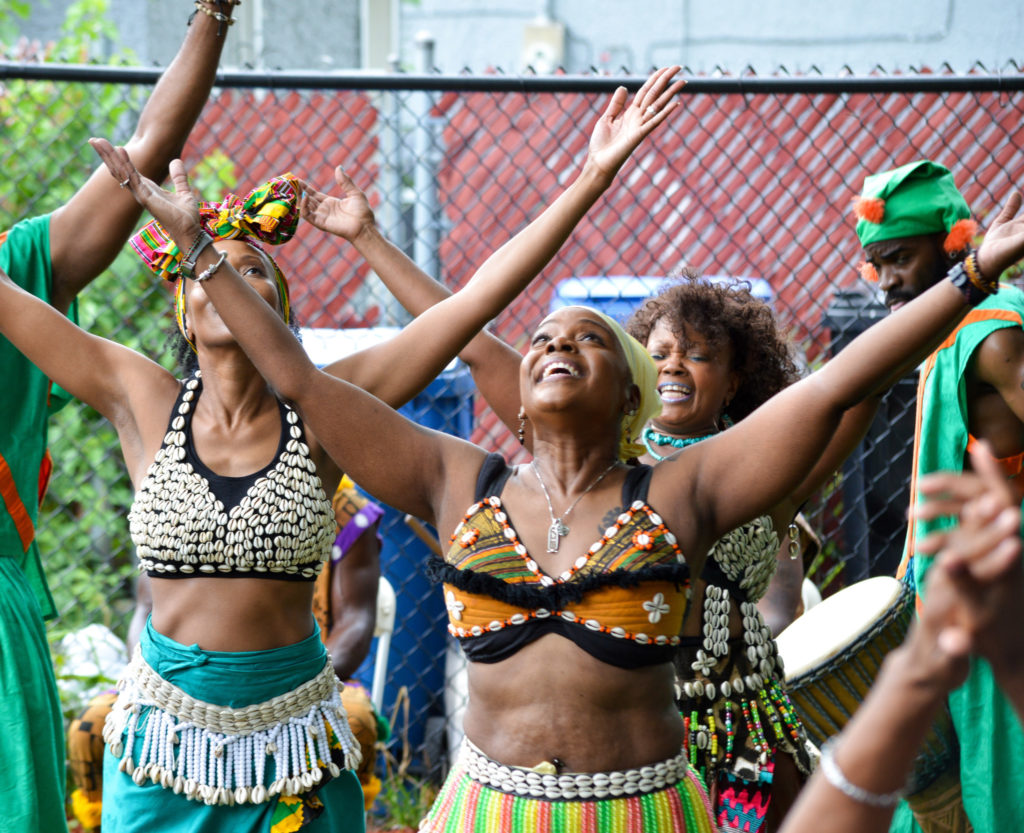 Dancers with the African Dance and Music Institute (Bridget Vaughn)
