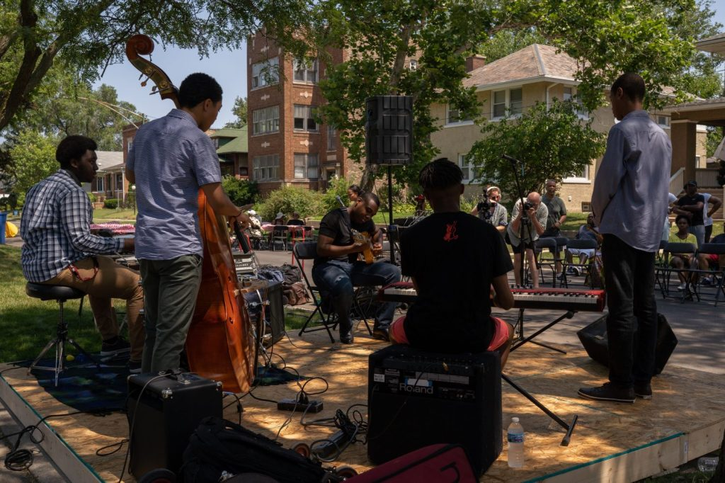 The Young Leaders perform during the 2019 Back Alley Jazz Fest in South Shore.