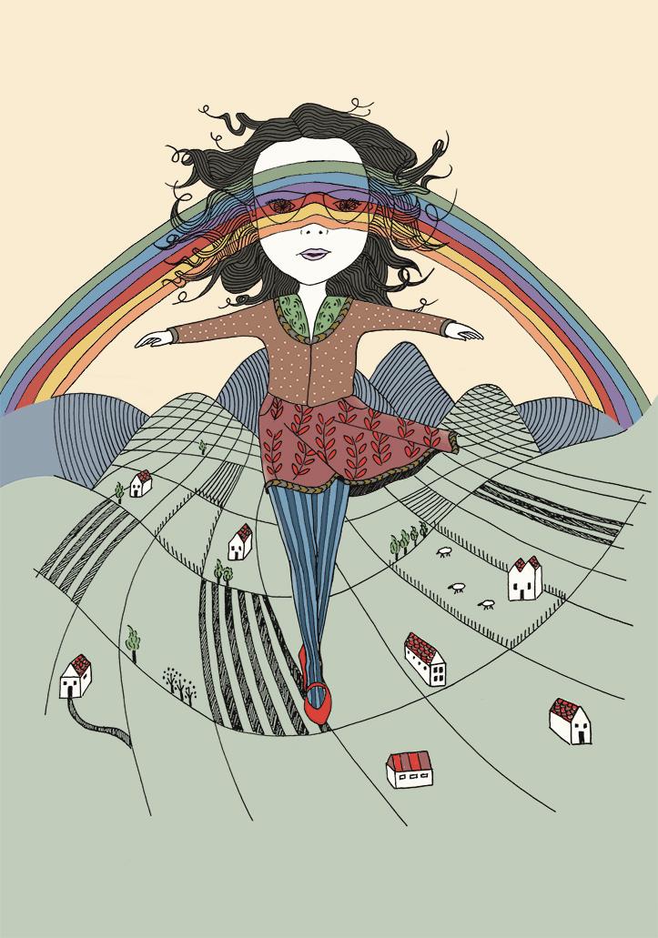 Walk through the colours of a rainbow