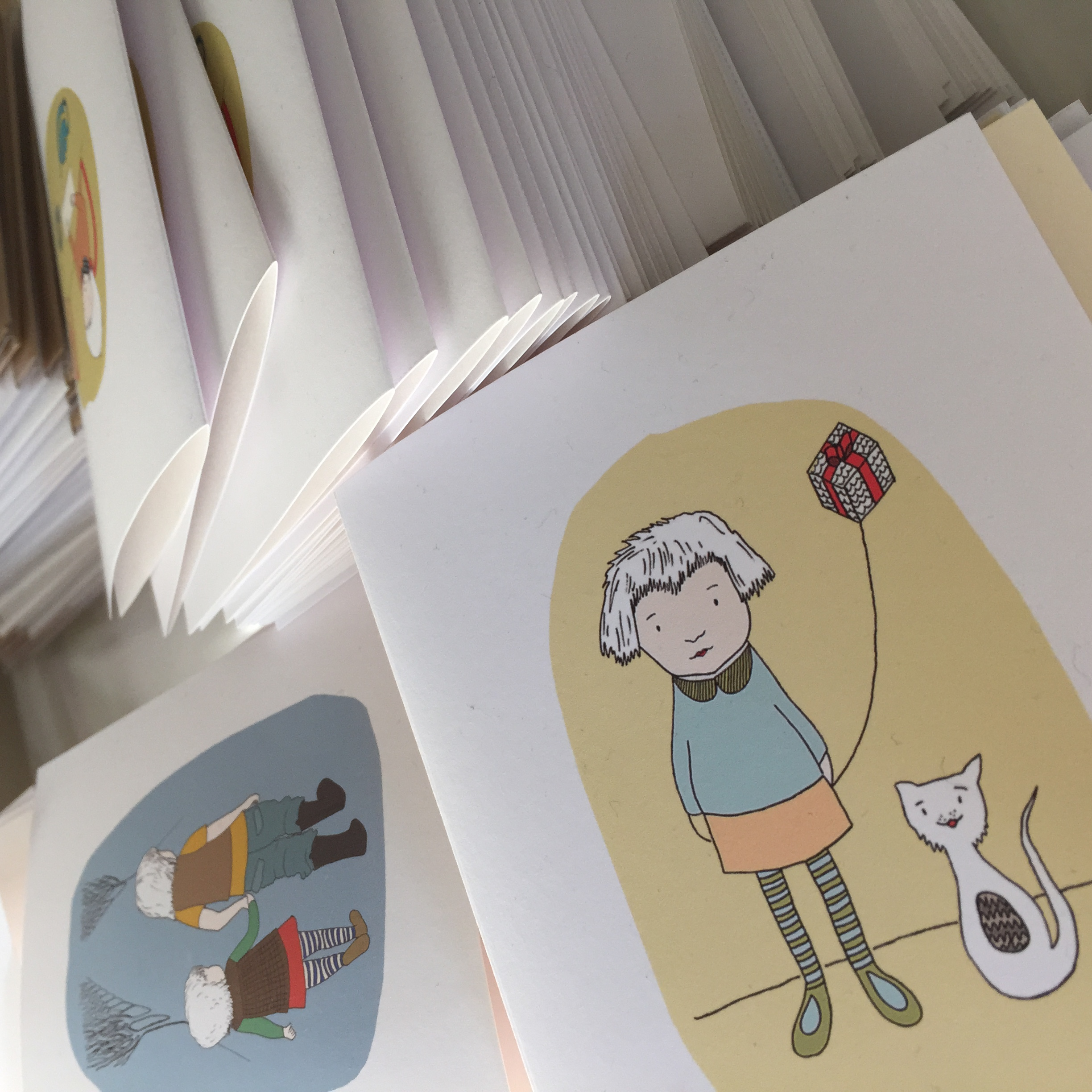 Trim and score and fold - oh my! Greeting cards.
