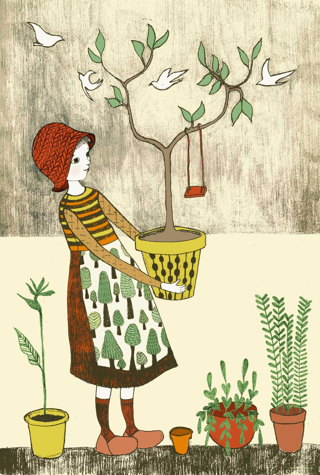 And here she is - Tending to the Garden. Can't wait to make more :)