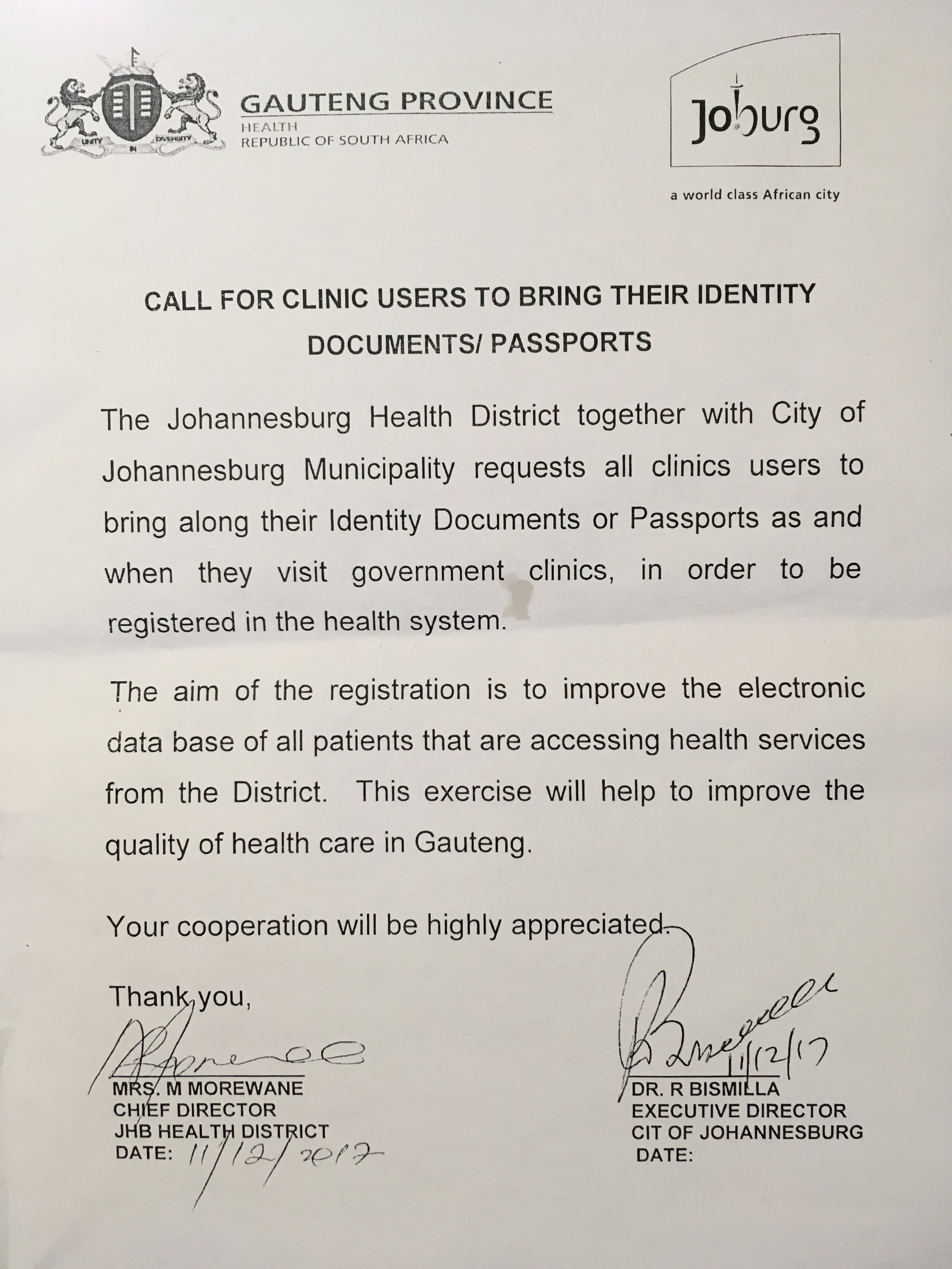 Call for clinic users to bring their ID document s.jpg