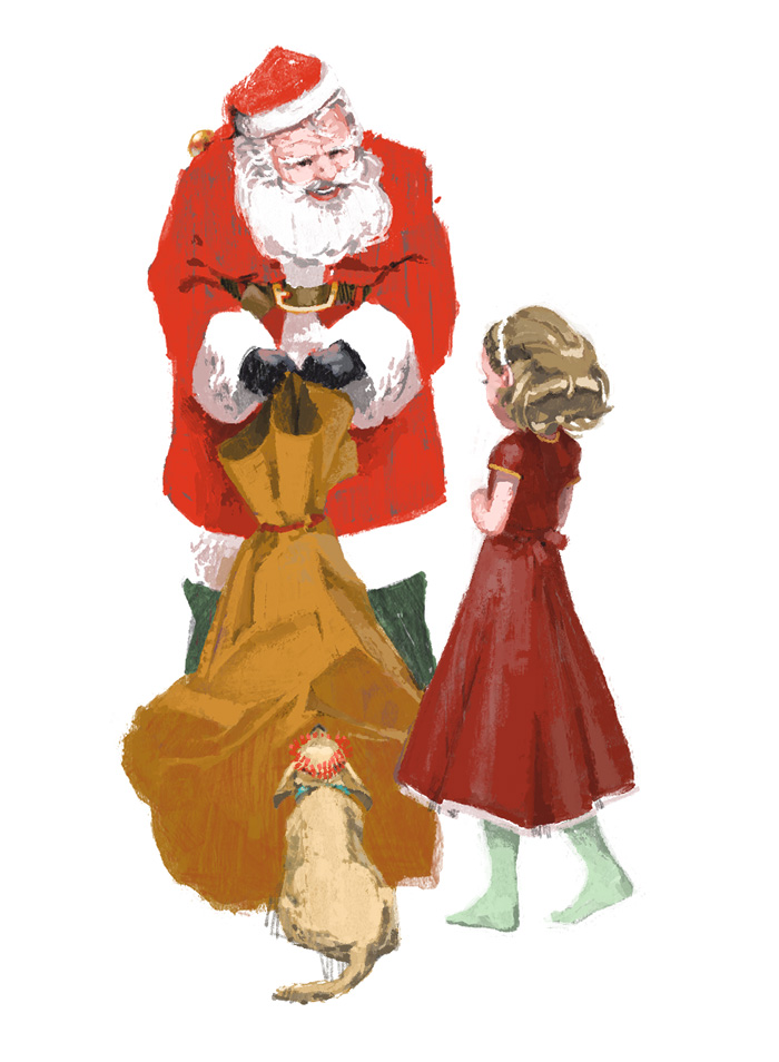 """For me?"" she asked Santa  for Out There / Fererro Rocher by Marc Aspinall"