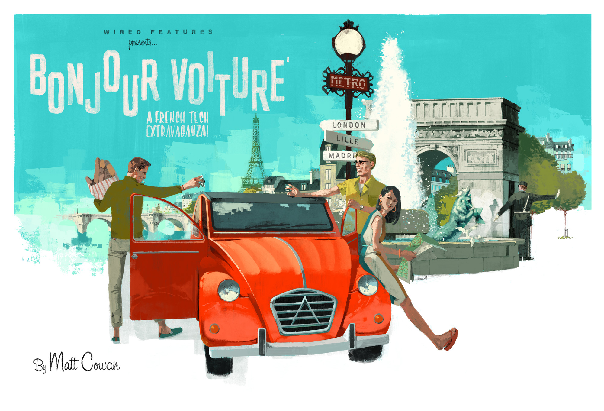 Bonjour Voiture, a French Tech Extravaganza for Wired Magazine by Marc Aspinall