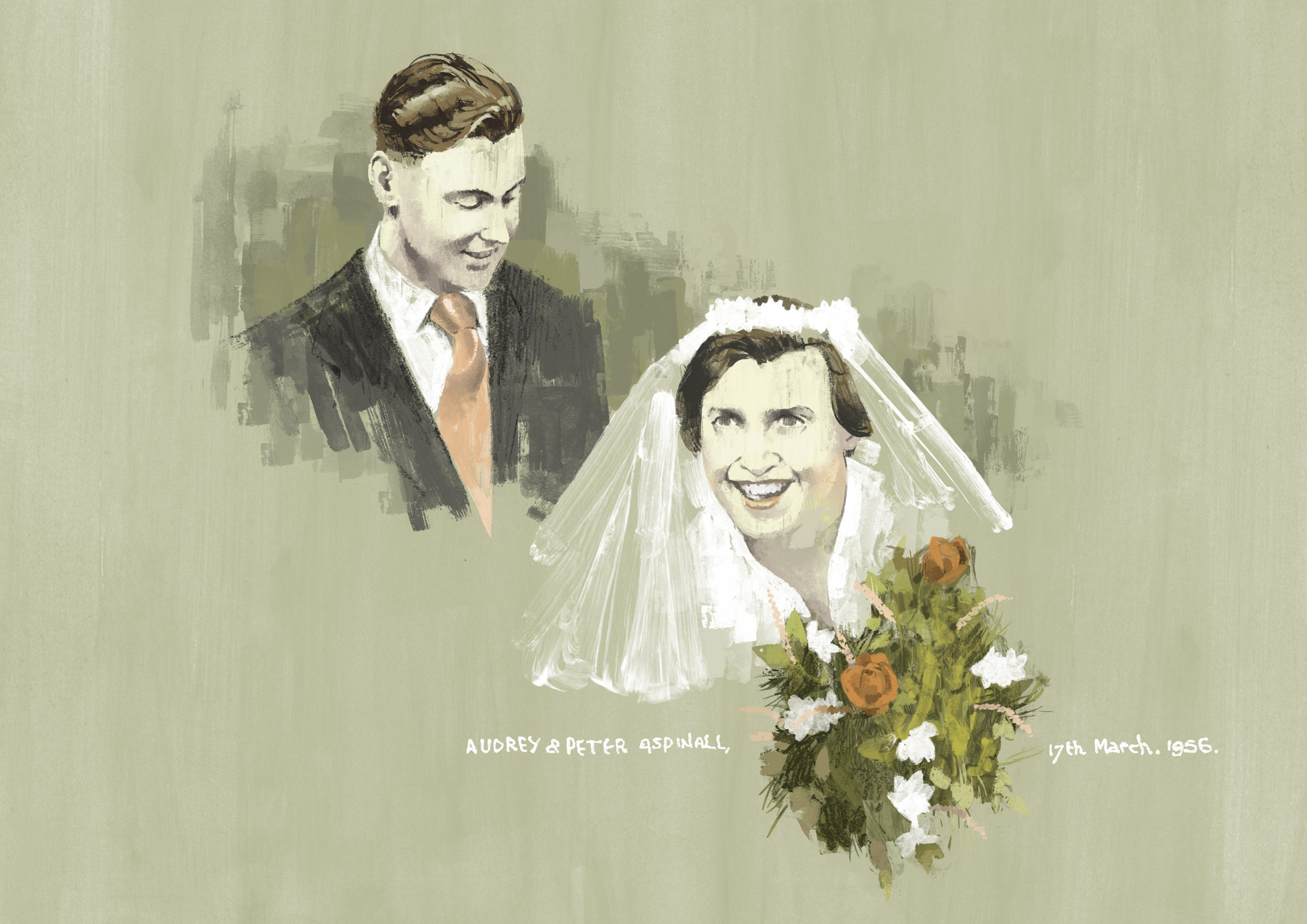 Audrey and Peter Aspinall by Marc Aspinall