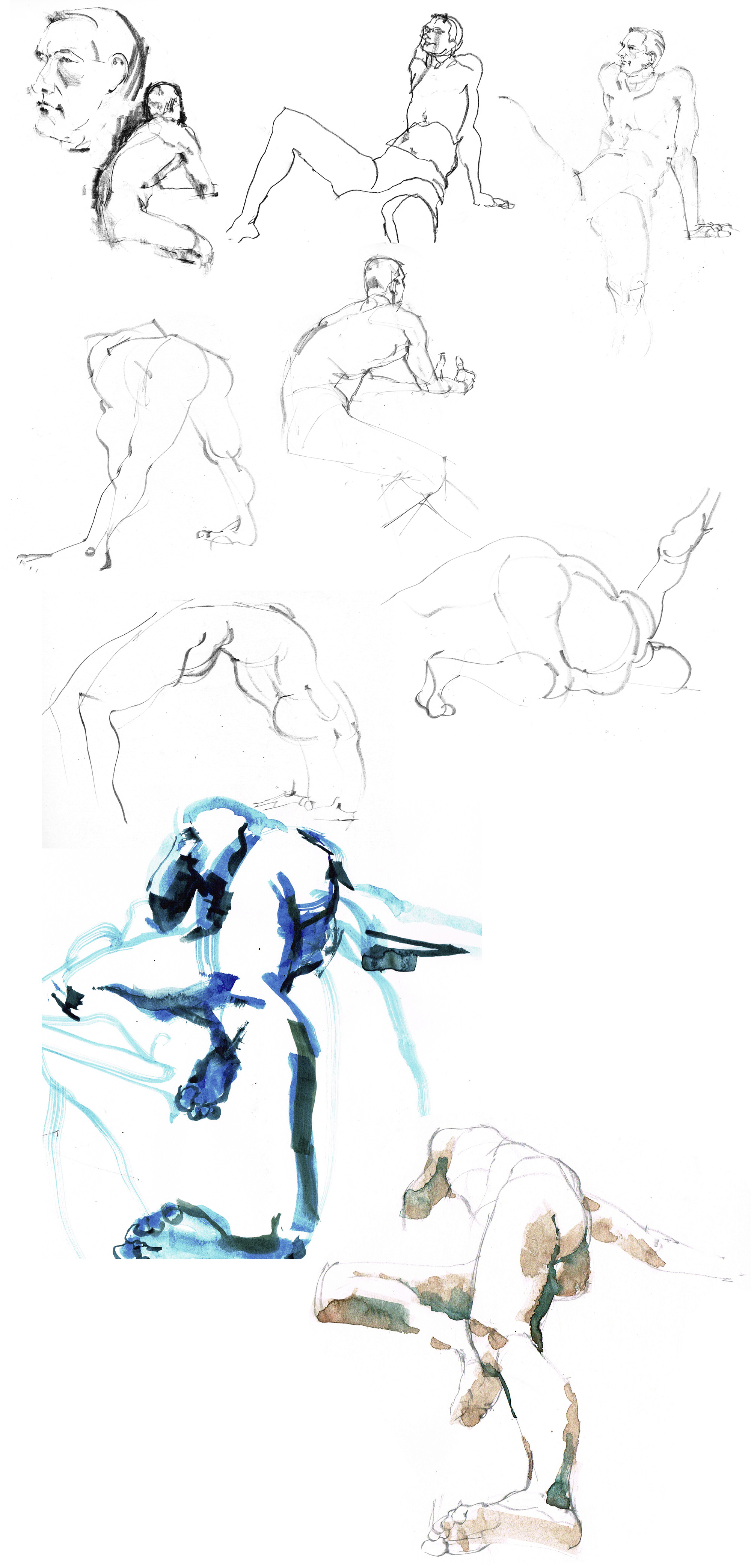 Liverpool Life Drawing by Marc Aspinall