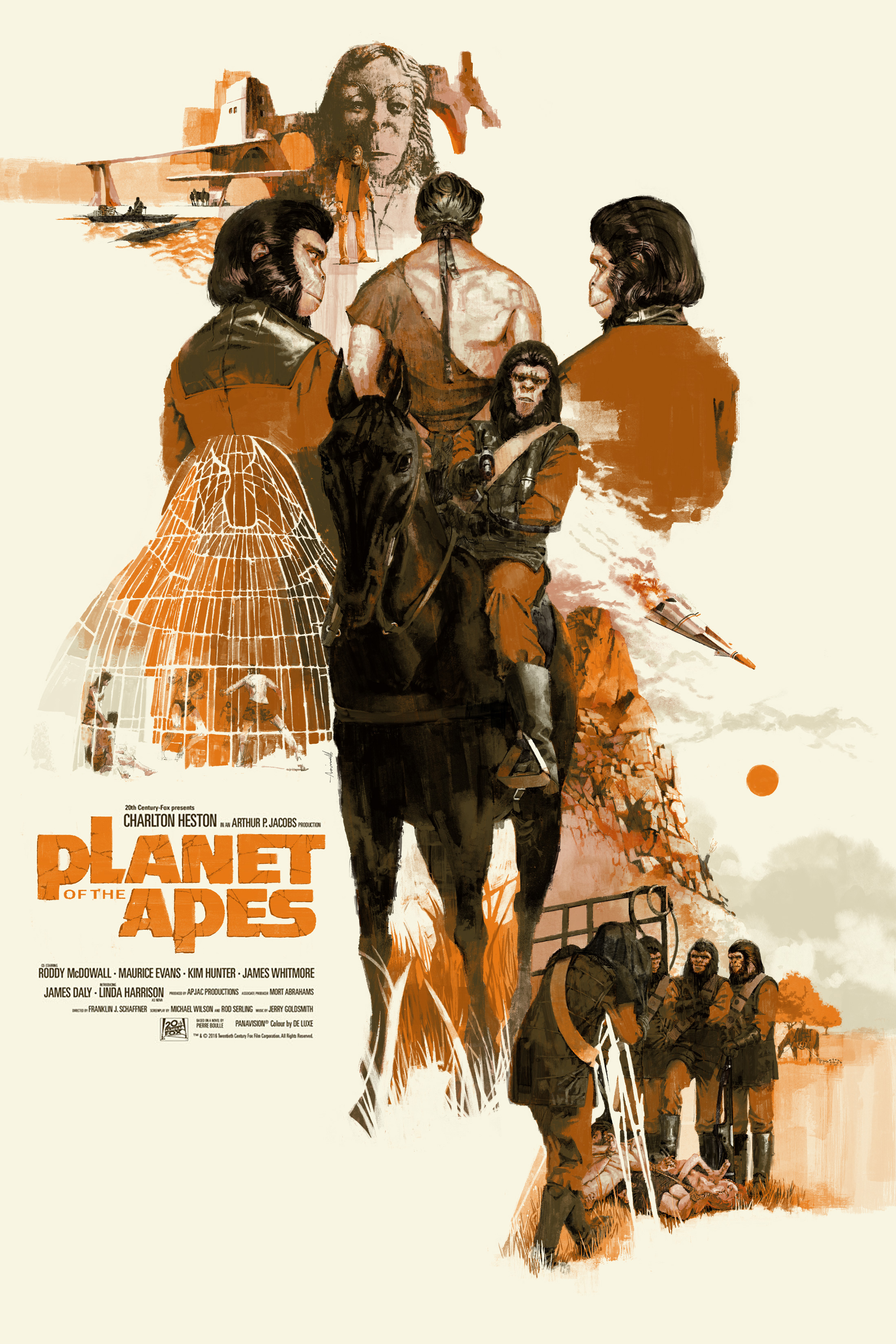 Planet of The Apes for Mondo / Alamo Drafthouse by Marc Aspinall