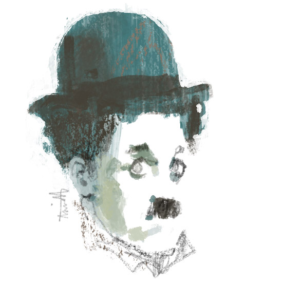 Charlot Charlie Chaplin for Le Parisian by Marc Aspinall