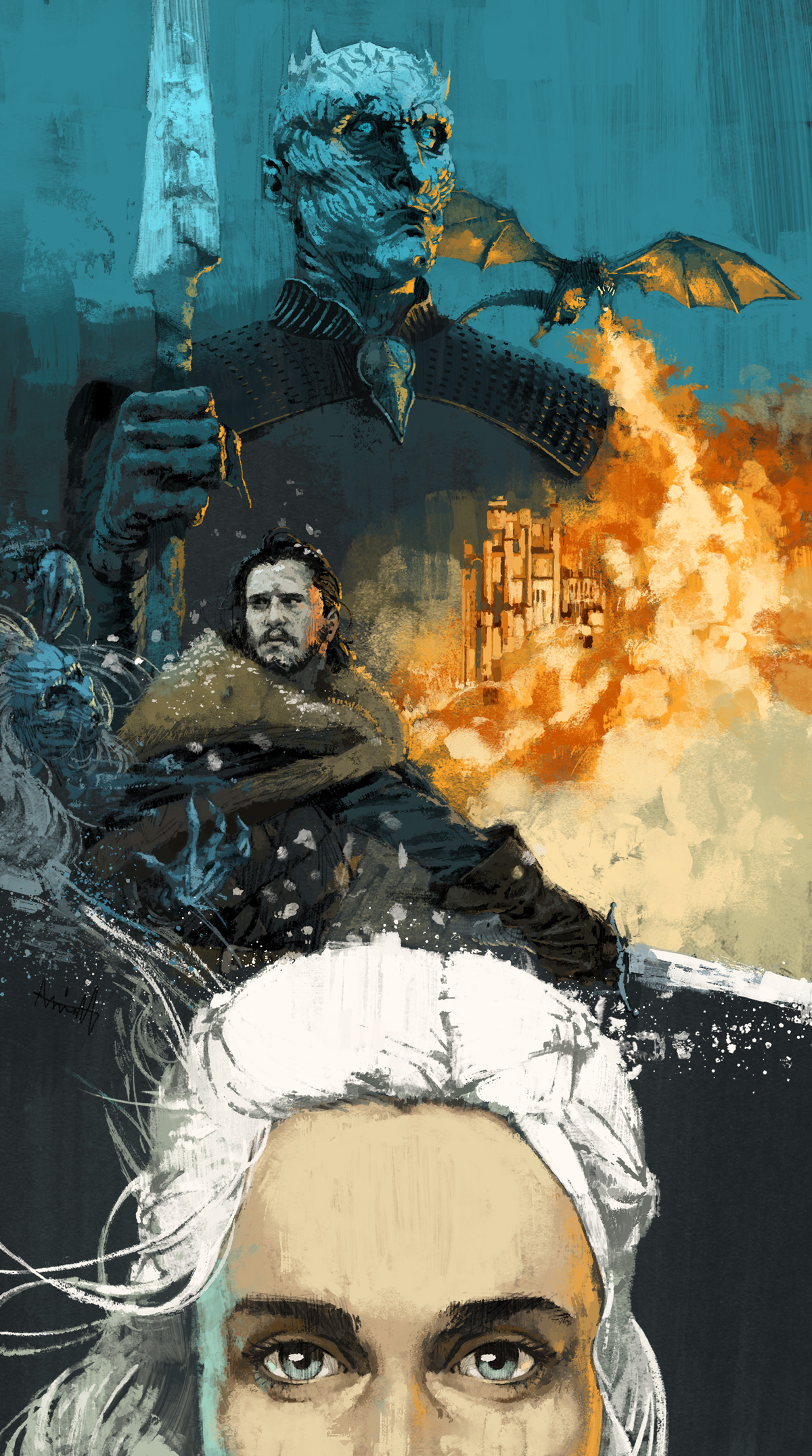 Game Of Thrones for Variety Magazine by Marc Aspinall