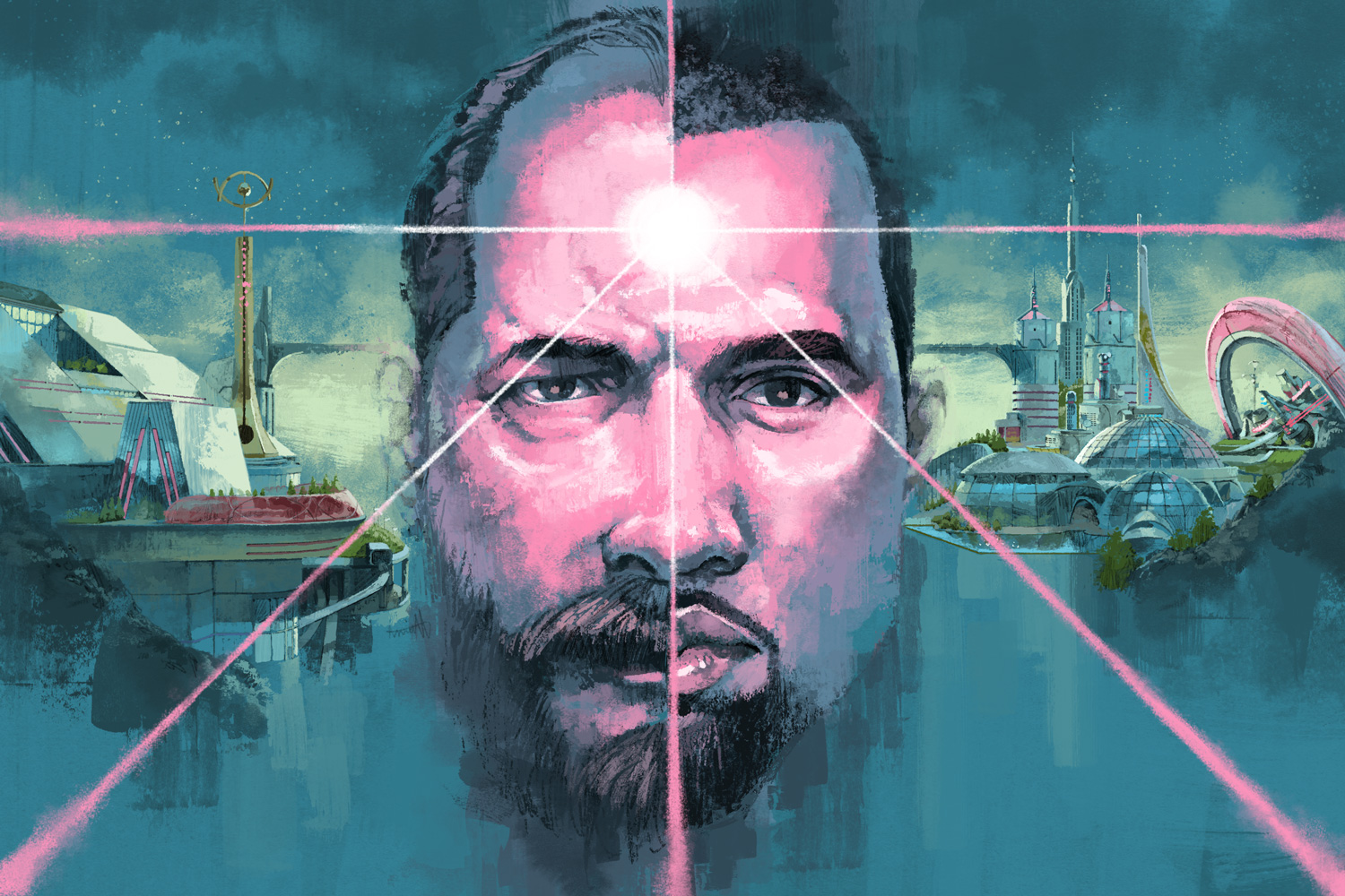 Philip K. Dick was a sci-fi prophet. Did he predict the unraveling of Kanye West? for The Washington Post Style by Marc Aspinall