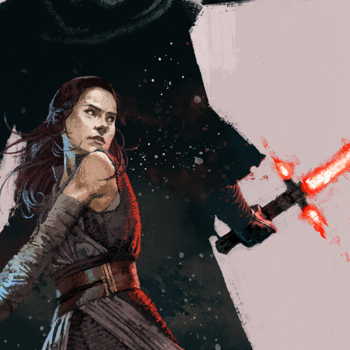 Rey in Star Wars The Last Jedi for Birth Movies Death Magazine by Marc Aspinall