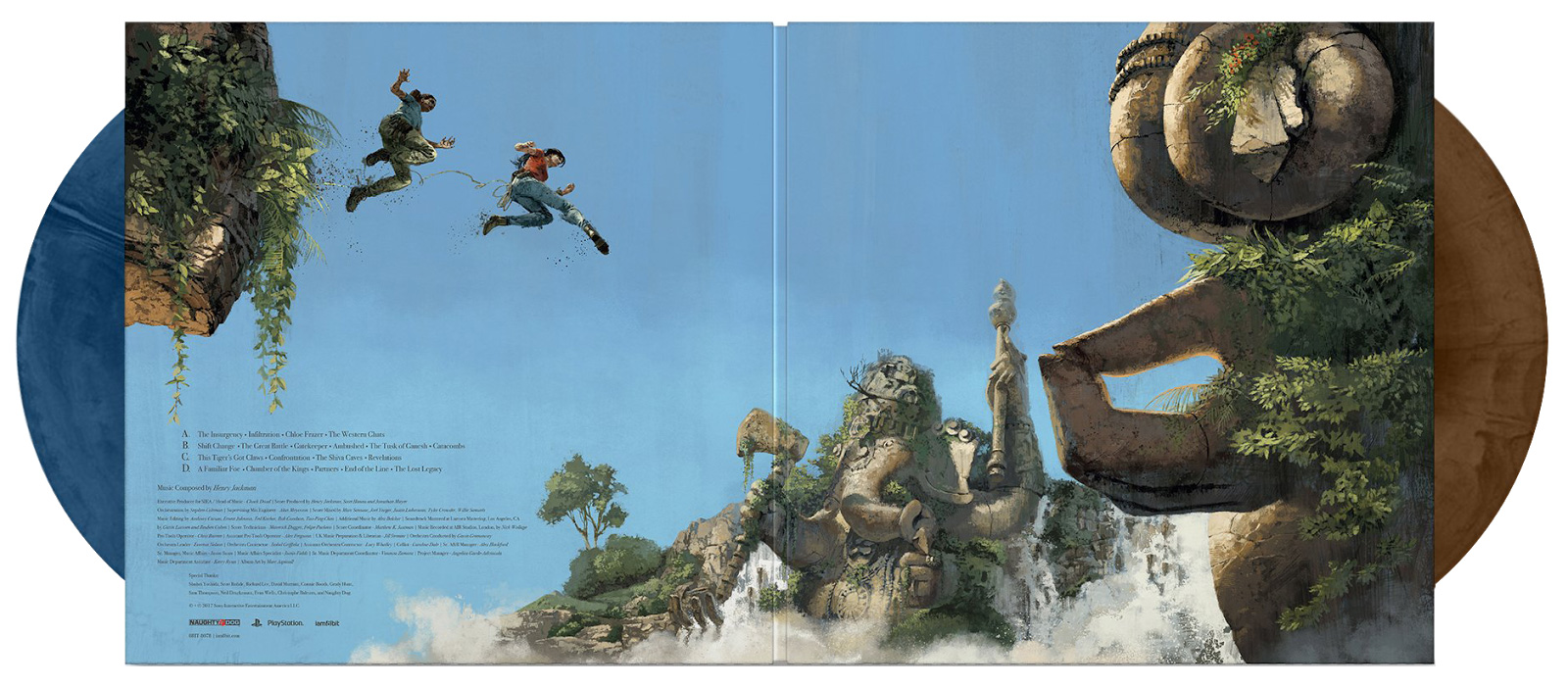 Uncharted The Lost Legacy Vinyl artwork for Iam8bit by Marc Aspinall