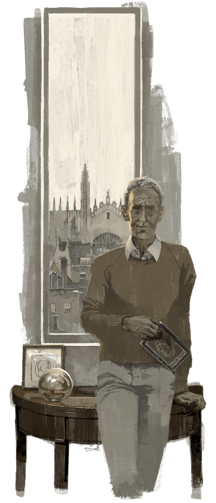 Jim Ede portrait for World of Interiors Magazine by Marc Aspinall