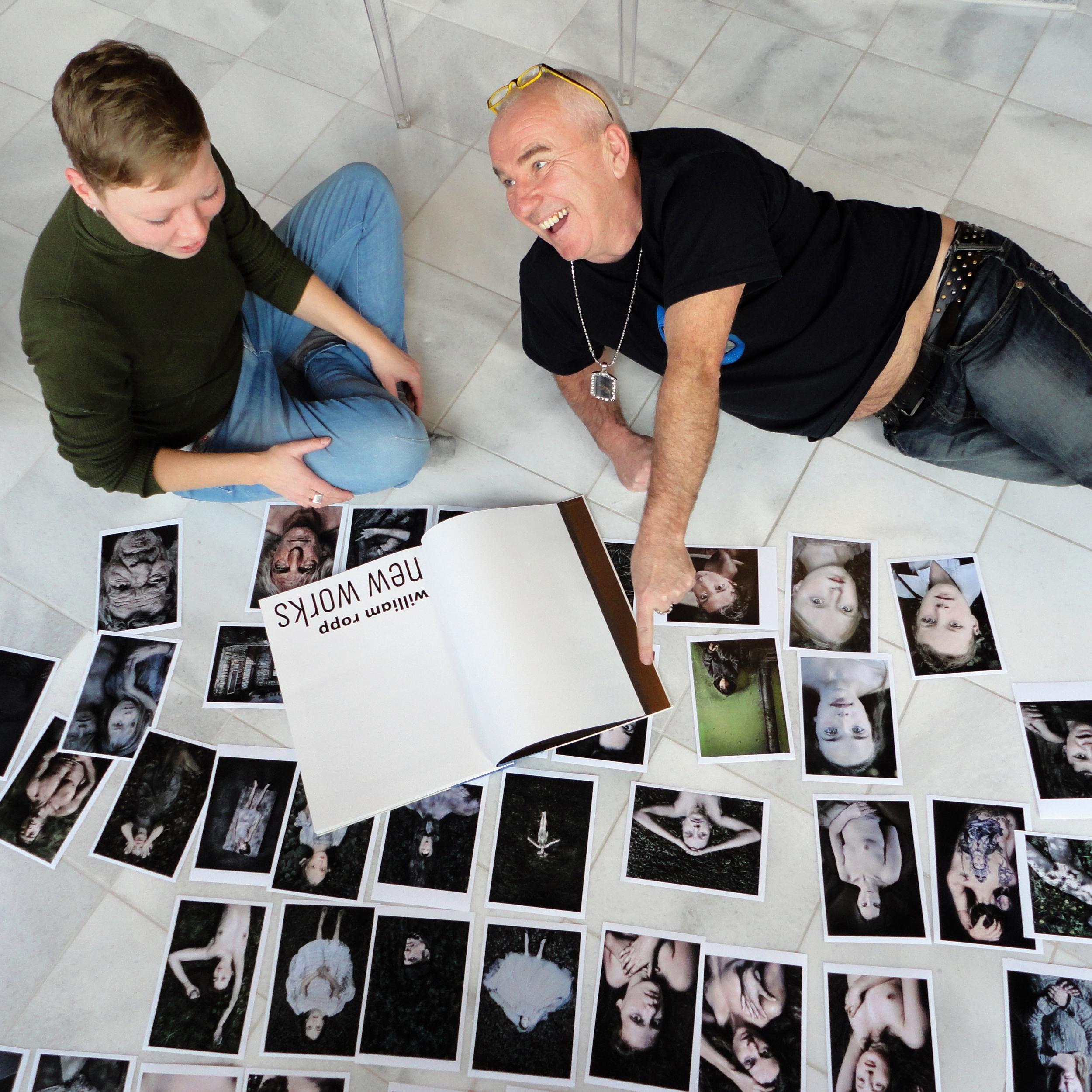 Mit William Ropp –Entwurfphase für Buchgestaltung NEW WORKS