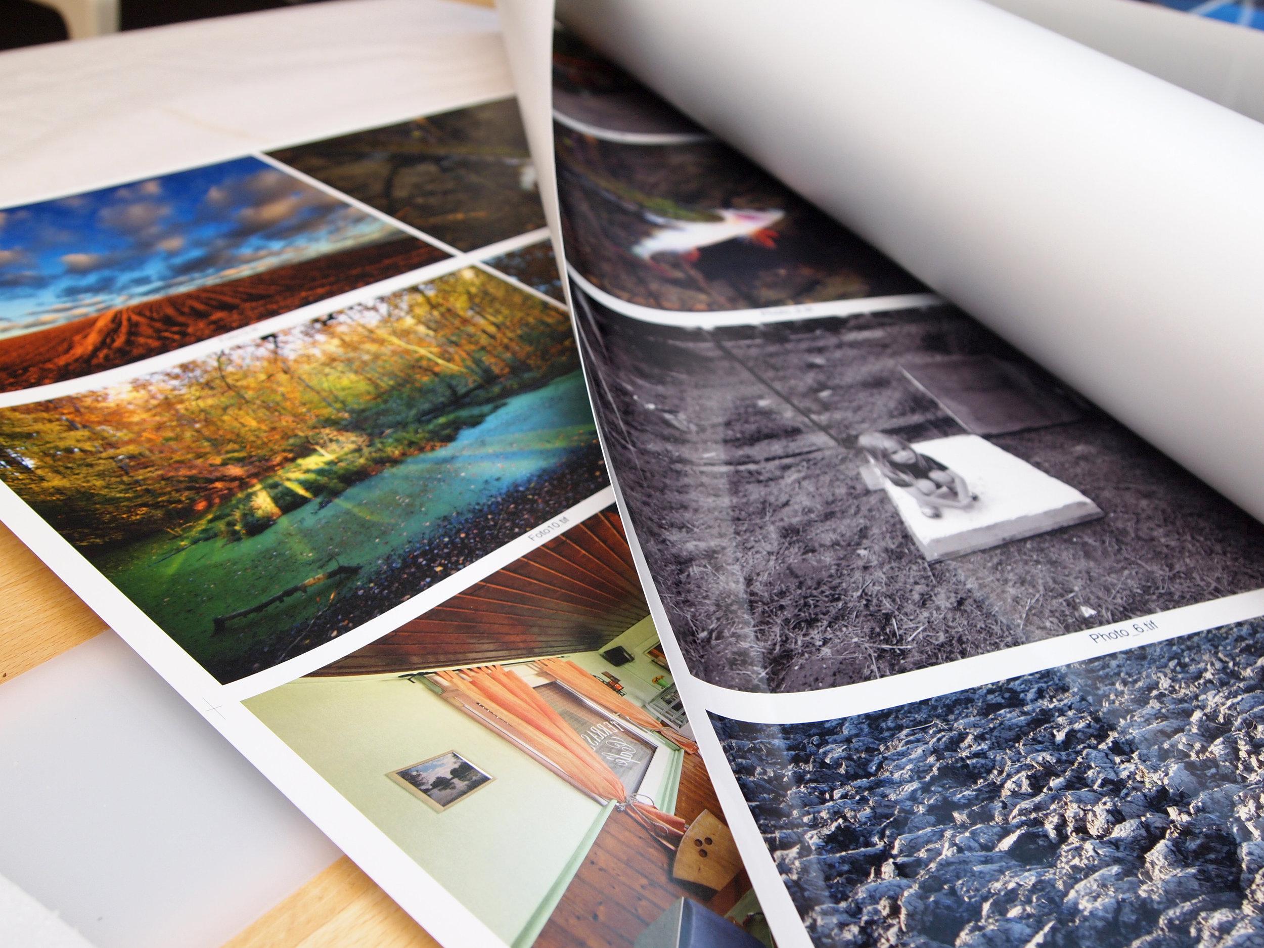 Farbproofs der Fotografien für den Offsetdruck bei Scancolor Leipzig