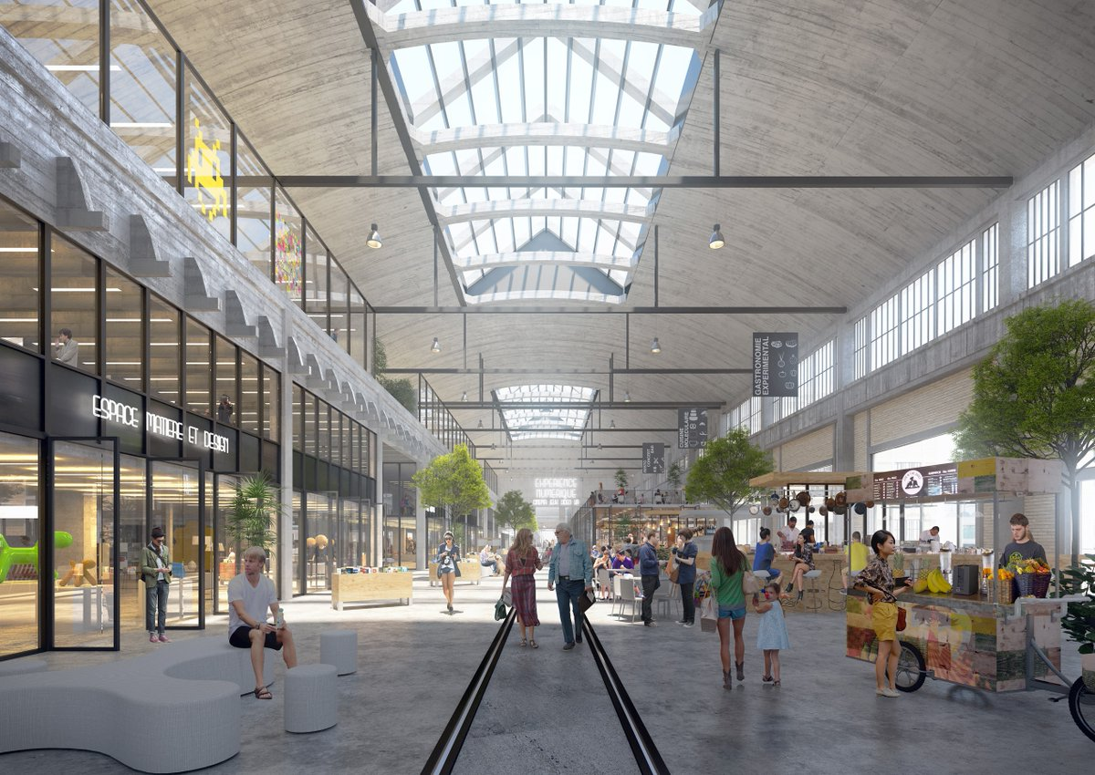 LES ARDOINES, Vitry-sur-Seine  Turning a 22 000 sqm industrial hall into a metropolitan hub