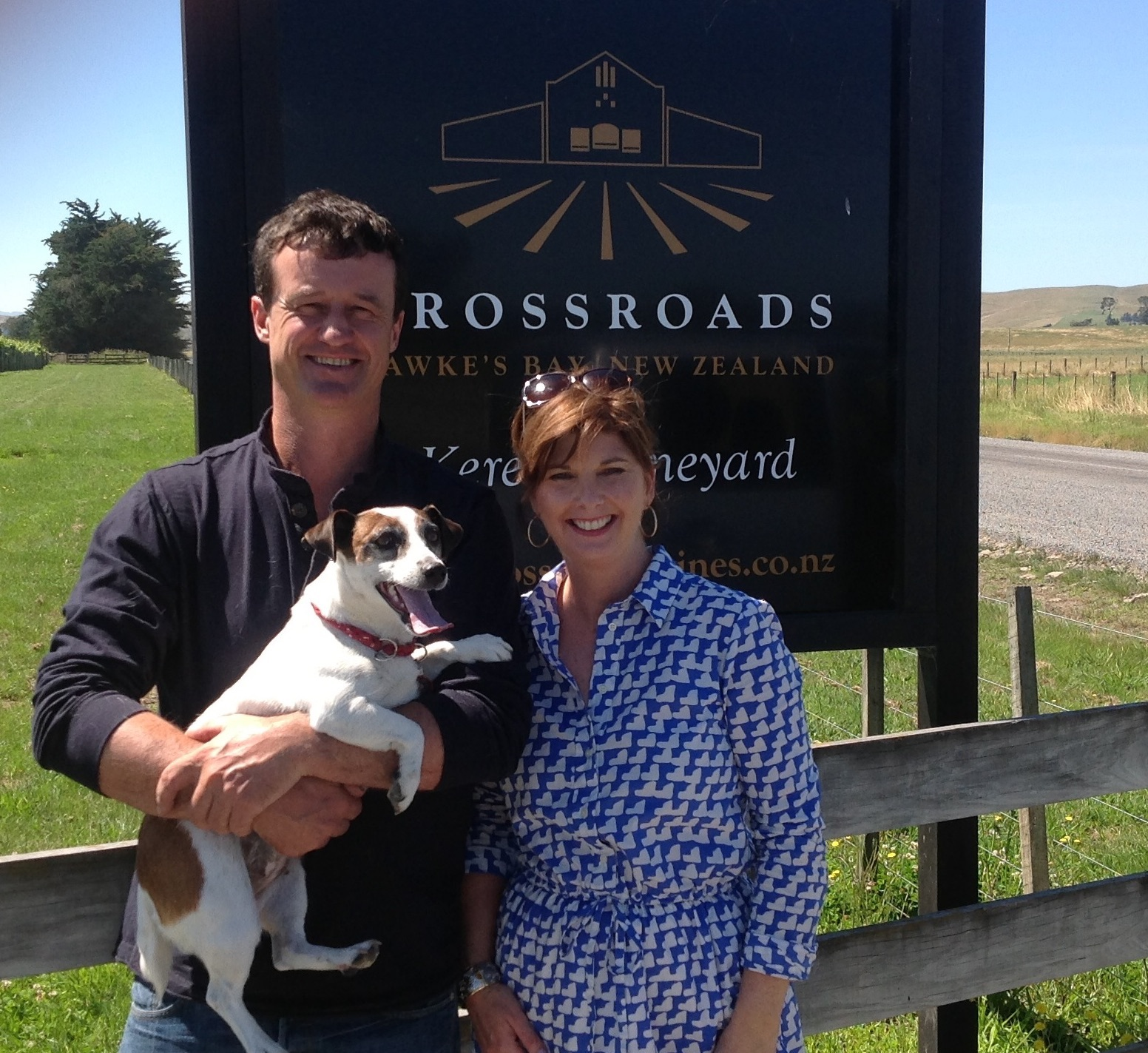 Tour of Crossroads winery Hawke's Bay, NZ with Miles Dinneen,Chief Winemaker