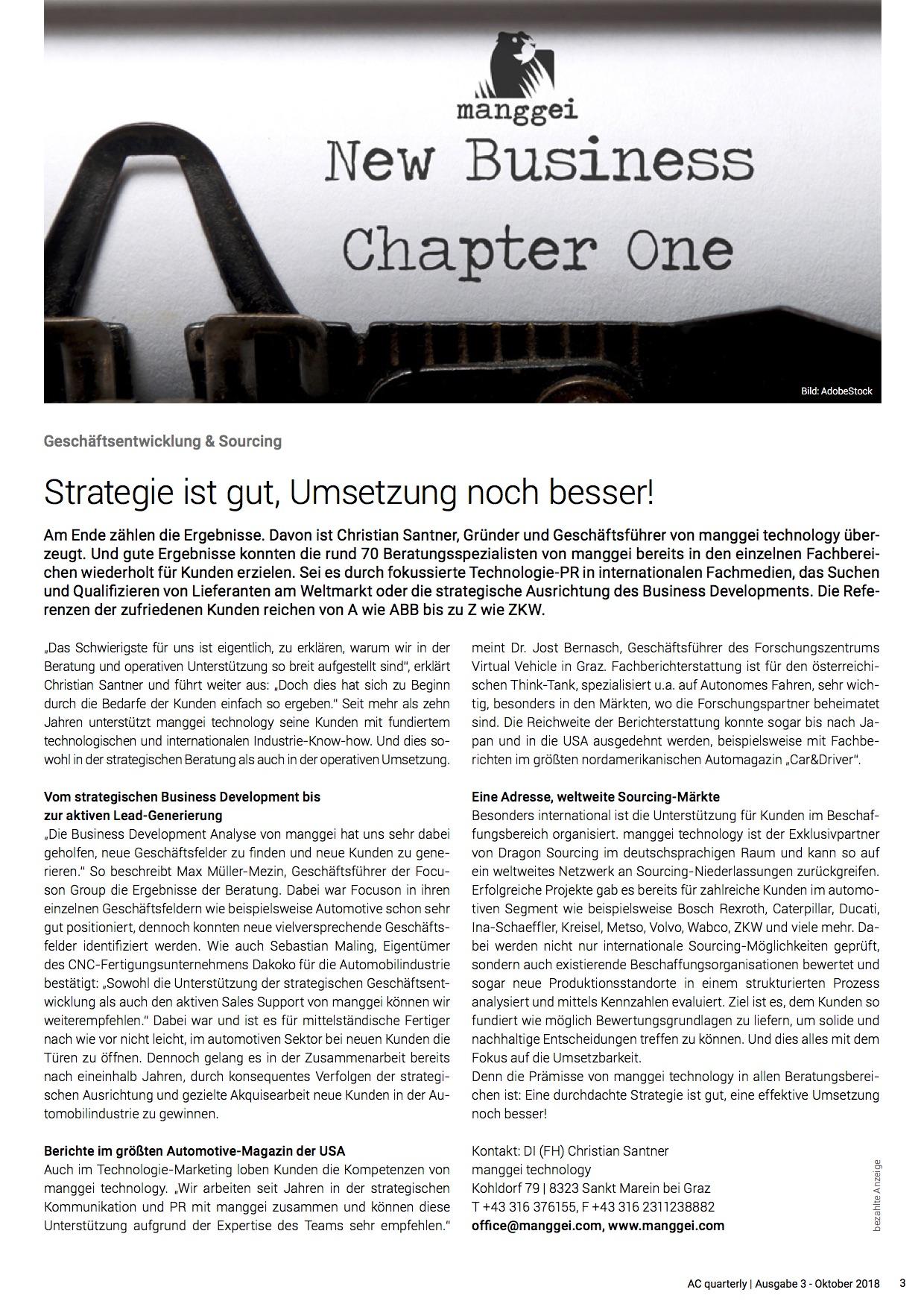 AC quaterly   Ausgabe 3 - Oktober 2018, Seite 3