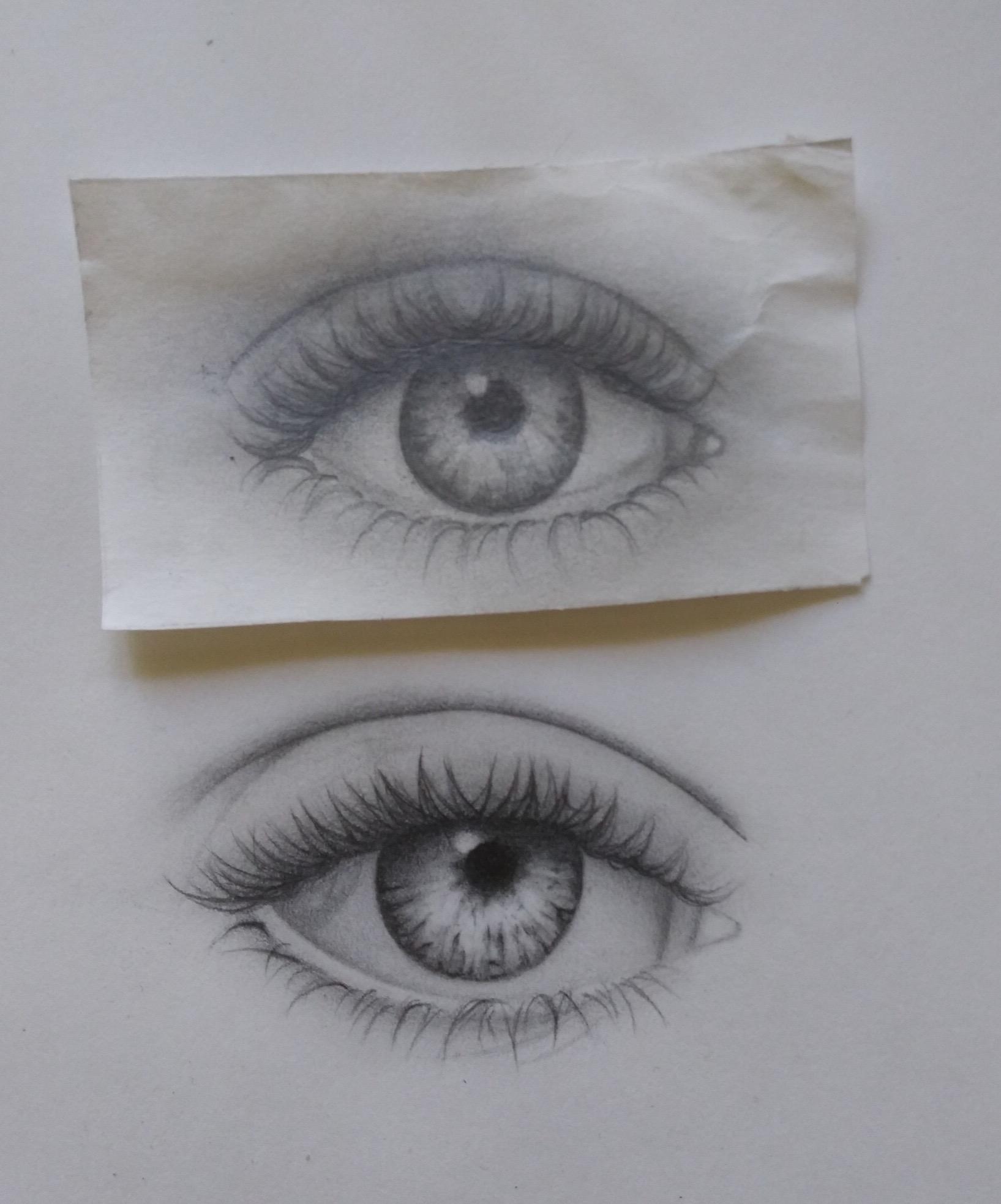 Pencil (top picture was drawn 1 prior), age 14
