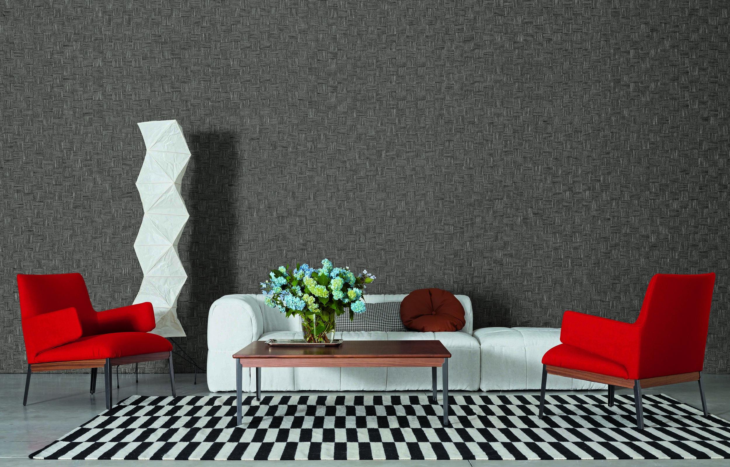 Hug Chair and Hug Table from Arflex, Strips Sofa from Arflex