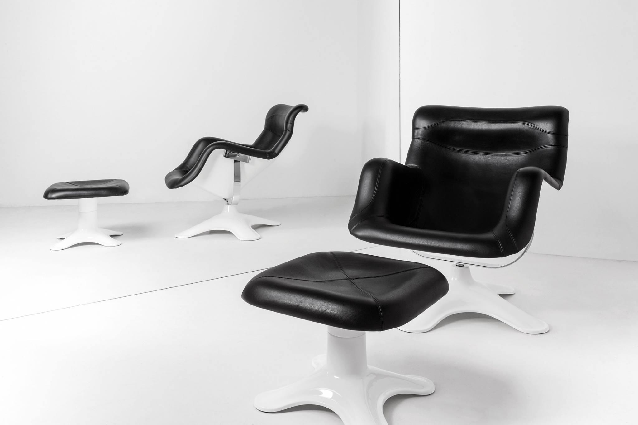 Karuselli Lounge Chair by Yrjo Kukkapuro for Artek, Karuselli Ottoman