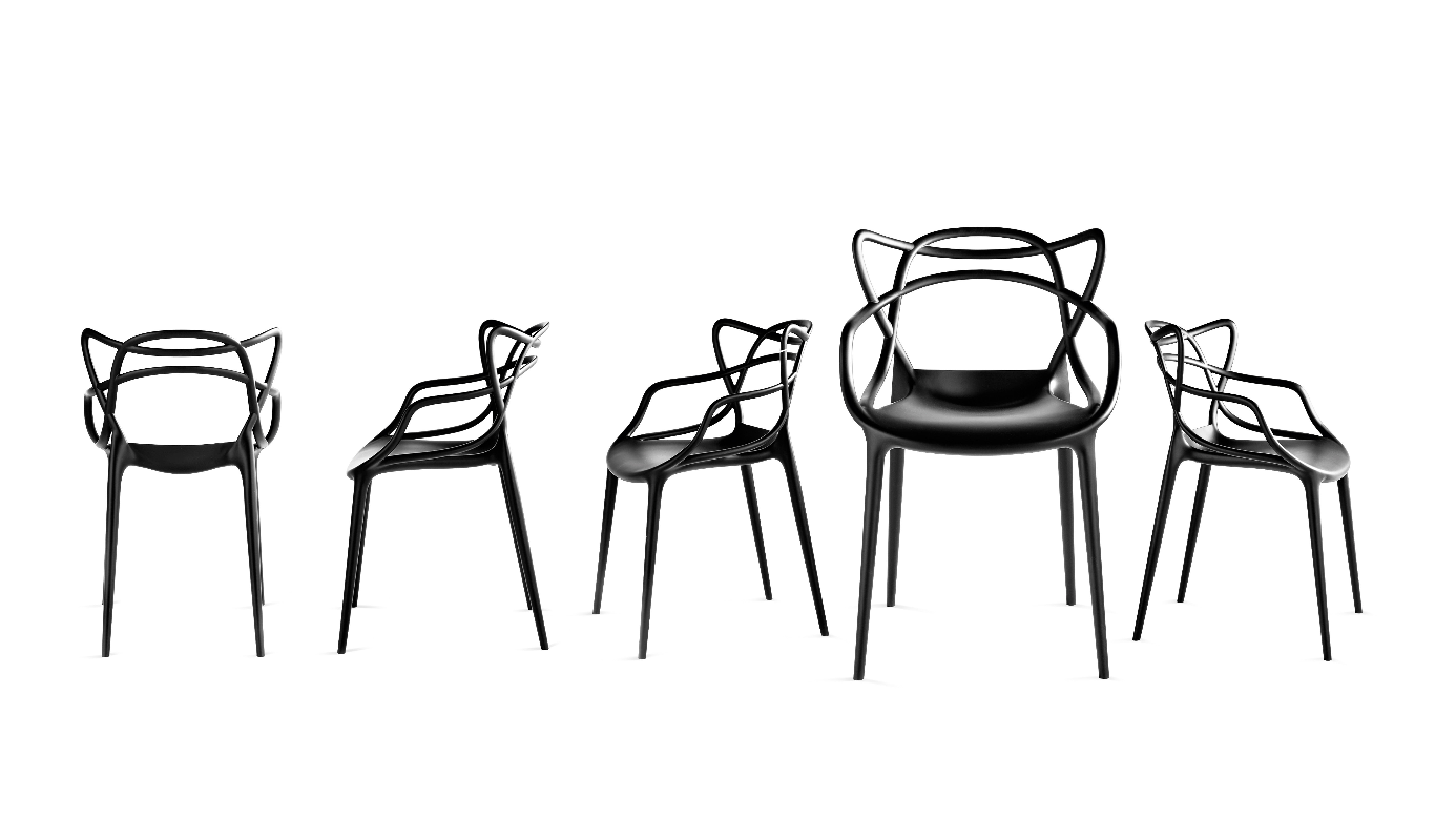 Masters Chair and Masters Stool by Philippe Starck for Kartell