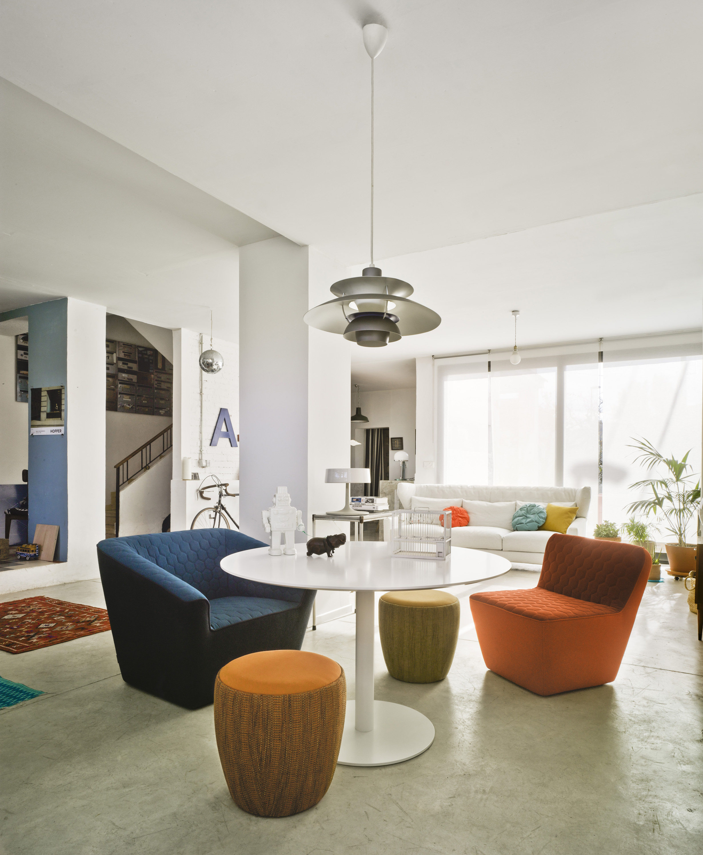 Tea Armchair with Chat stools from Sancal