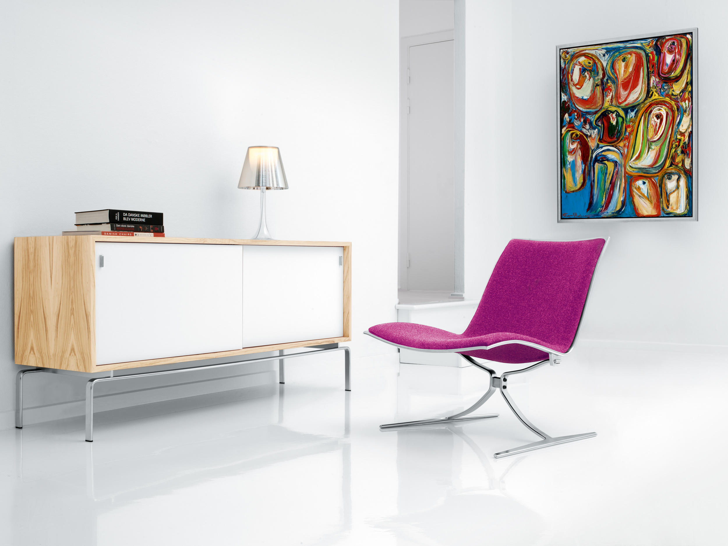 Skater Chair and FK Console by Lange Production.