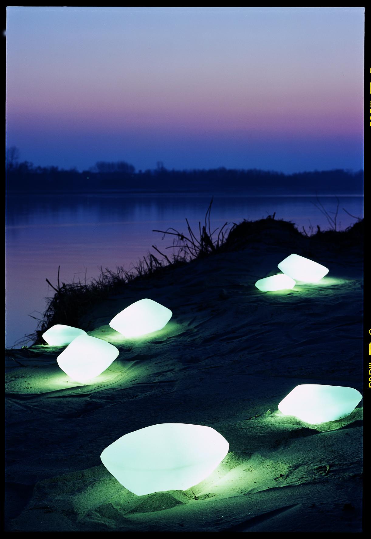 Oluce Stone of Glass Lamp