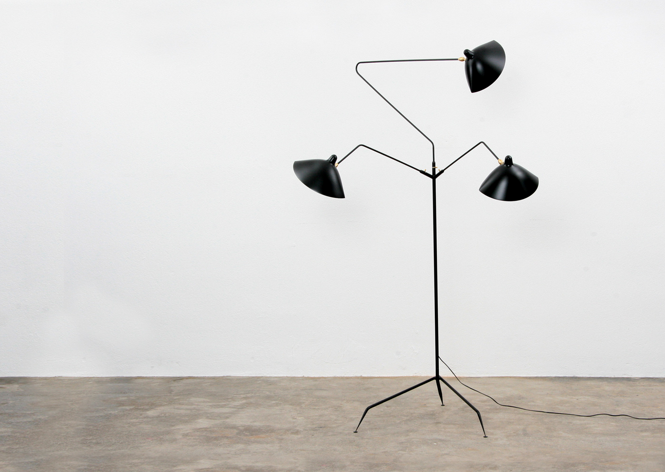 3 Arm floor lamp from Serge Mouille.