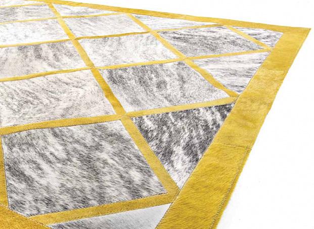 Yerra Chained Hair-on-hide area rug