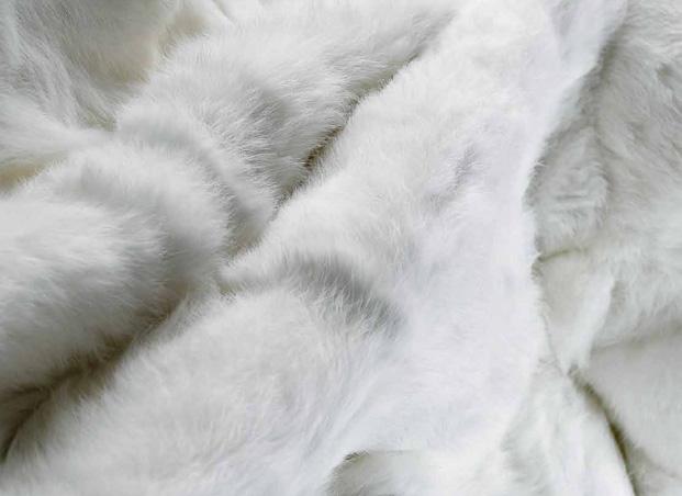 Yerra Rabbit fur throw
