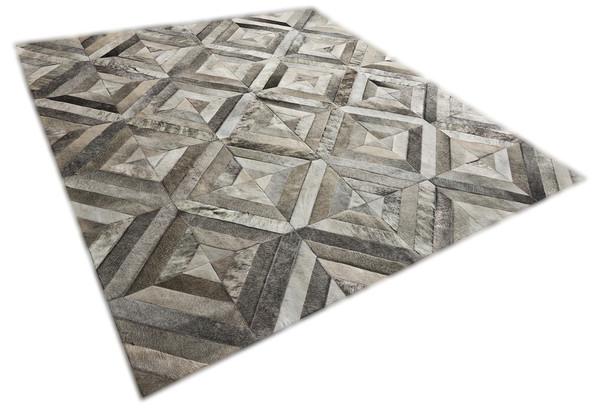 Yerra Rombos hair-on-hide area rug