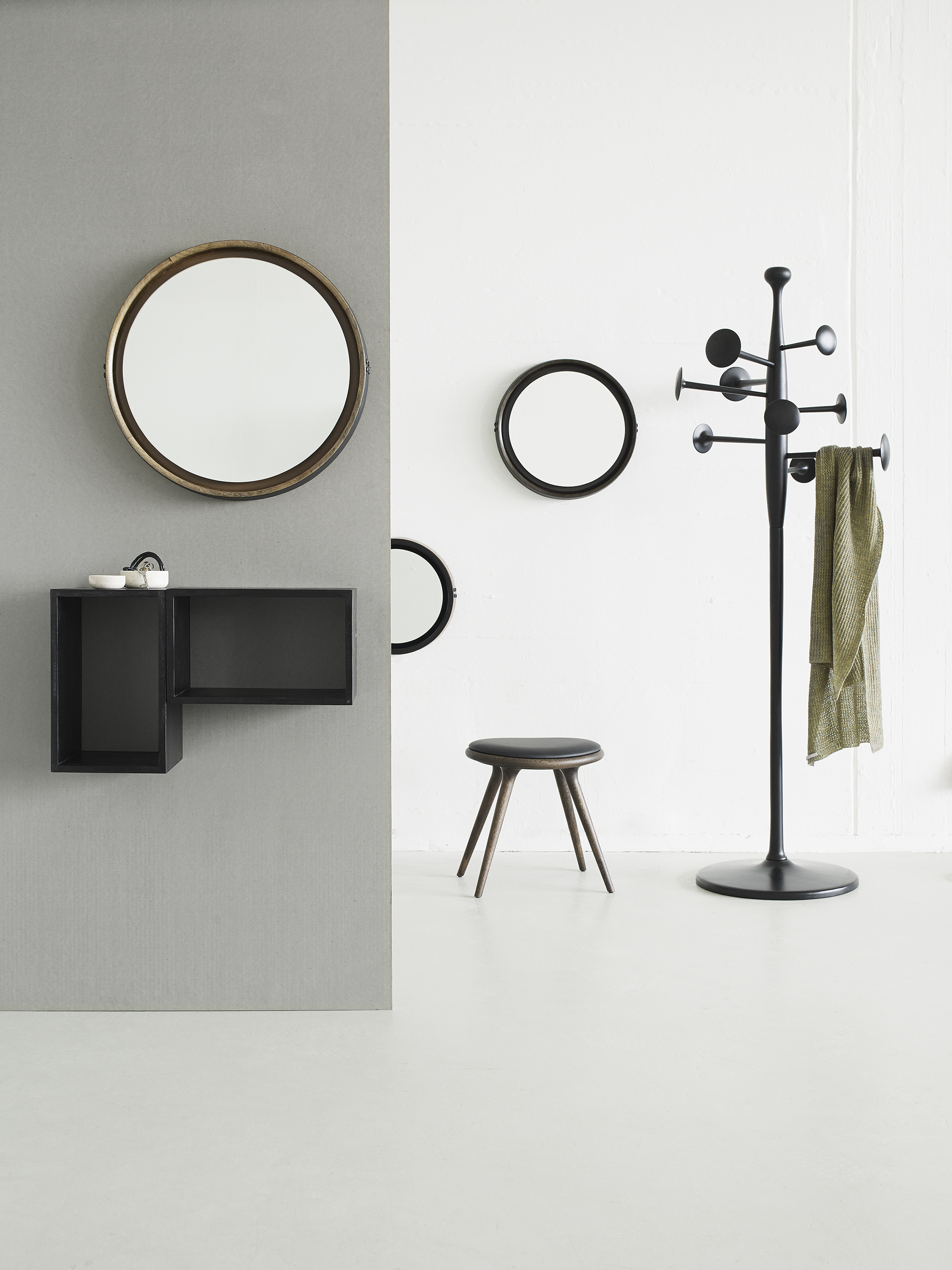 Mater Design Trumpet Coat stand and Sophie Mirror from Mater Design
