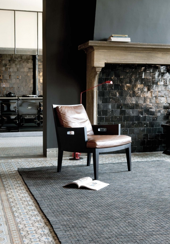 Limited Edition Brick leather floor covering