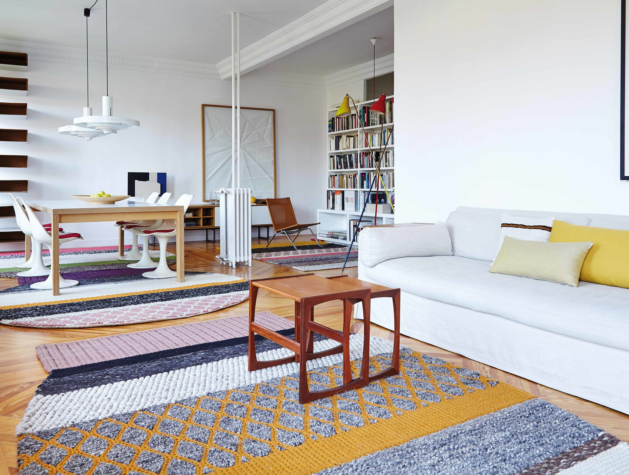 Mangas Original rugs and ottomans are available at Morlen Sinoway