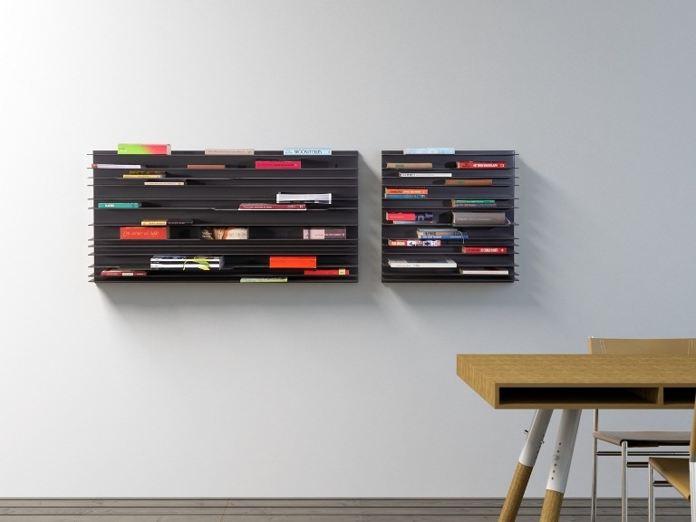 Paperback wall shelving from Spectrum Furniture