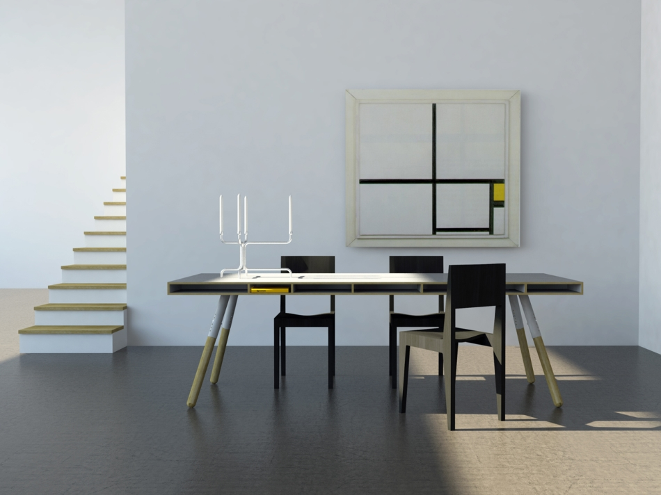 Phill dining table with Tim Chair from Spectrum Furniture