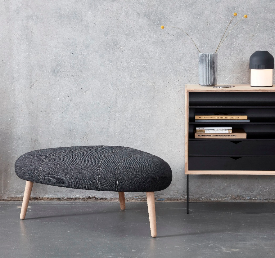 Andersen Pebble Stool and Pebble Pouffe