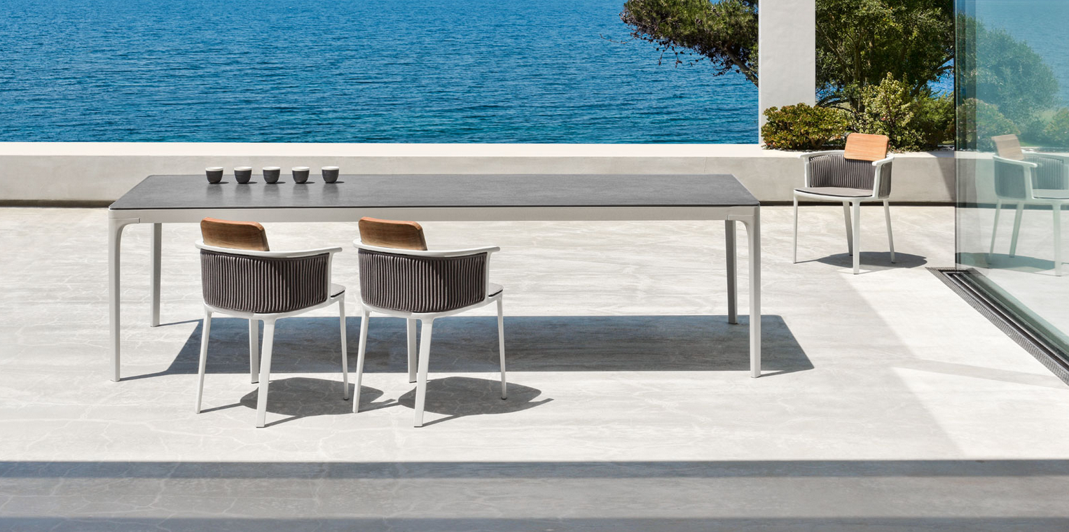 Play table and outdoor lounge furniture from Ethimo