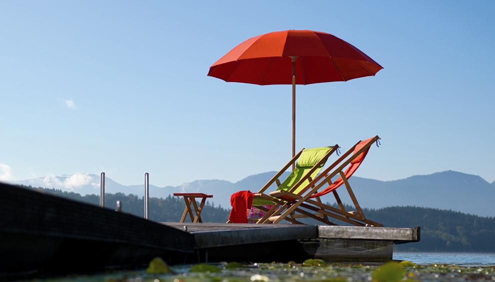 Pagoda outdoor umbrella by Weishaupl