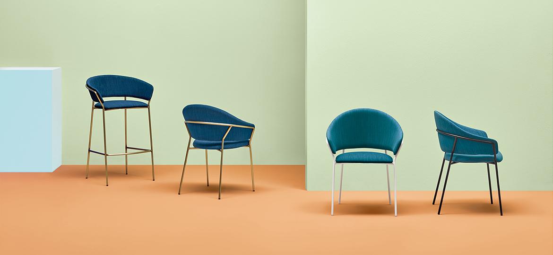 Pedrali Jazz chair and Jazz stool