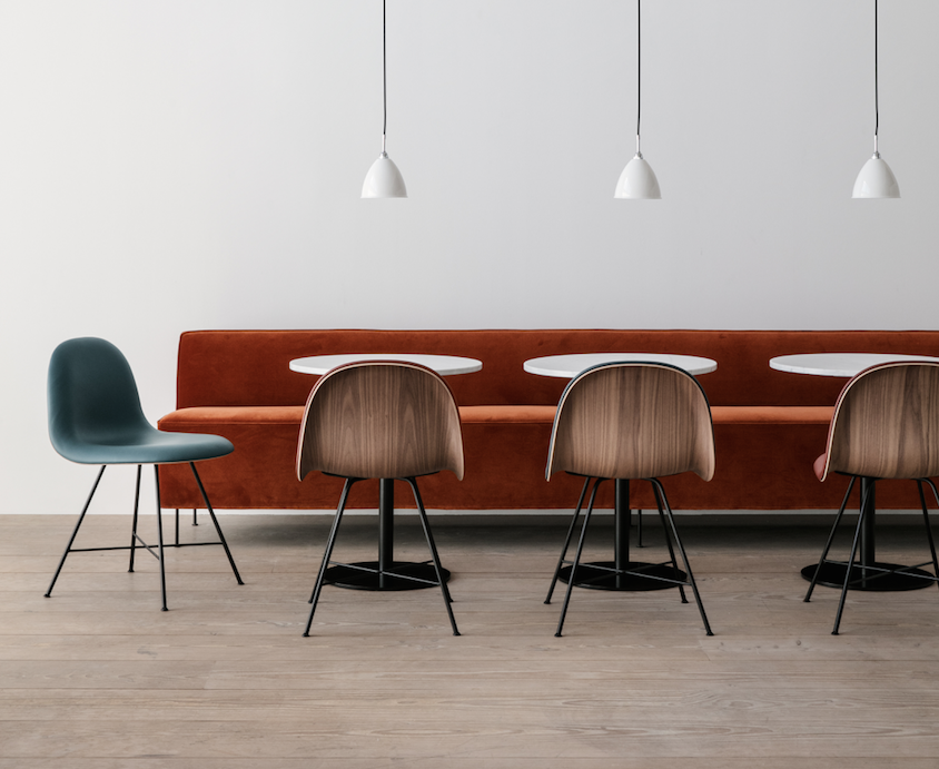 GUBI Modern Line sofa and 3D Chair