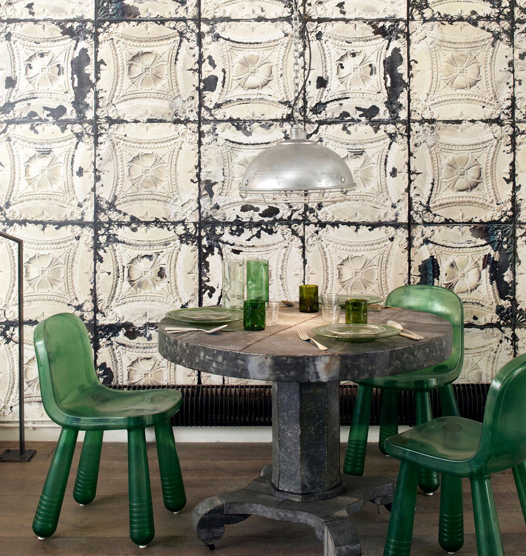Brooklyn Tin Wallpaper by NLXL