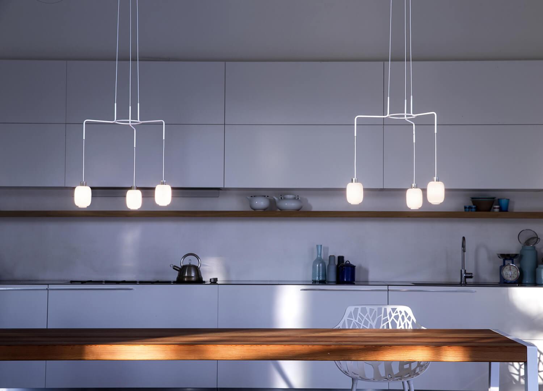 Chan suspension lights from Prandina