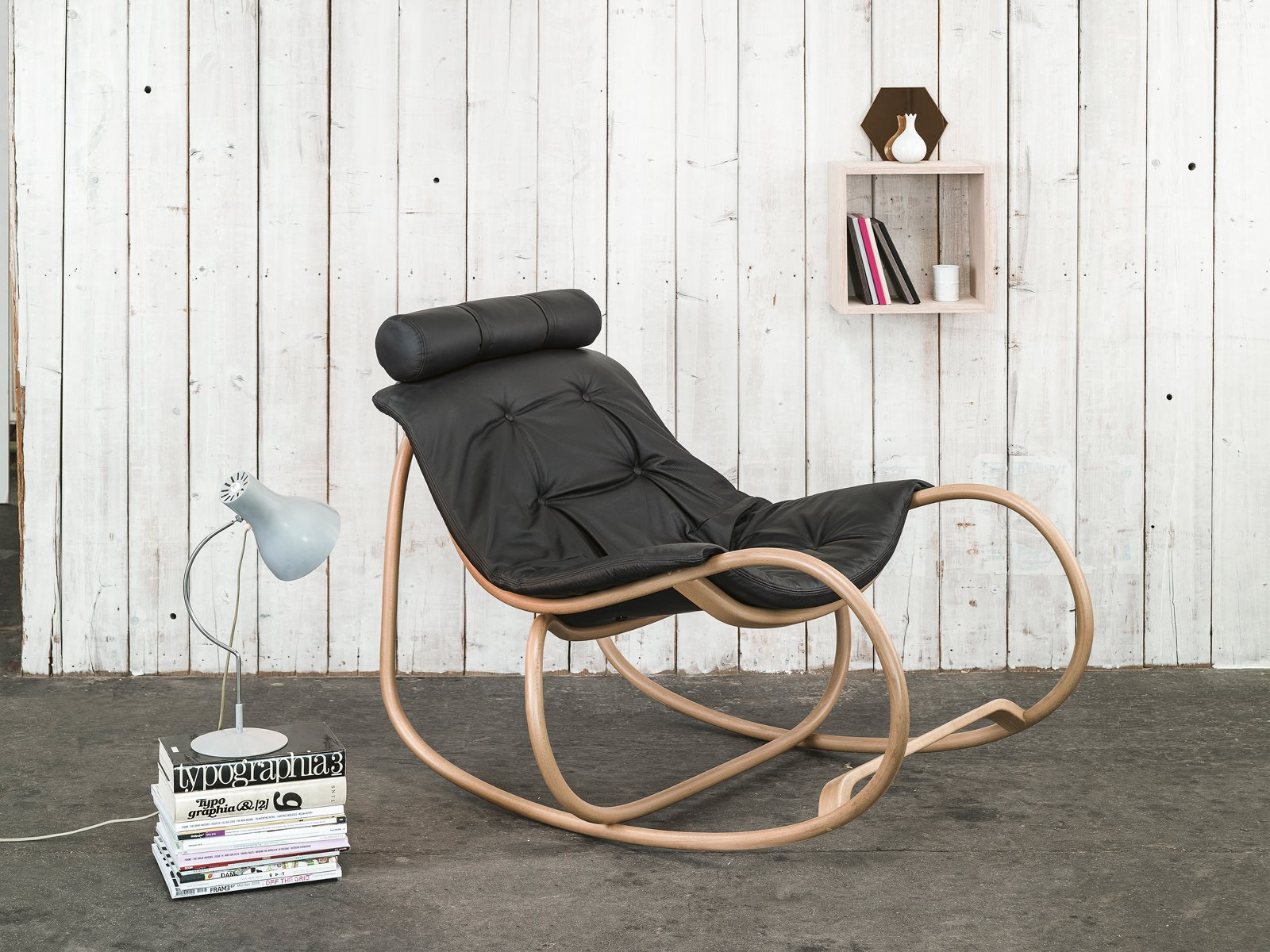 Wave Rocking Armchair -   beech finish - $5,093 LIST