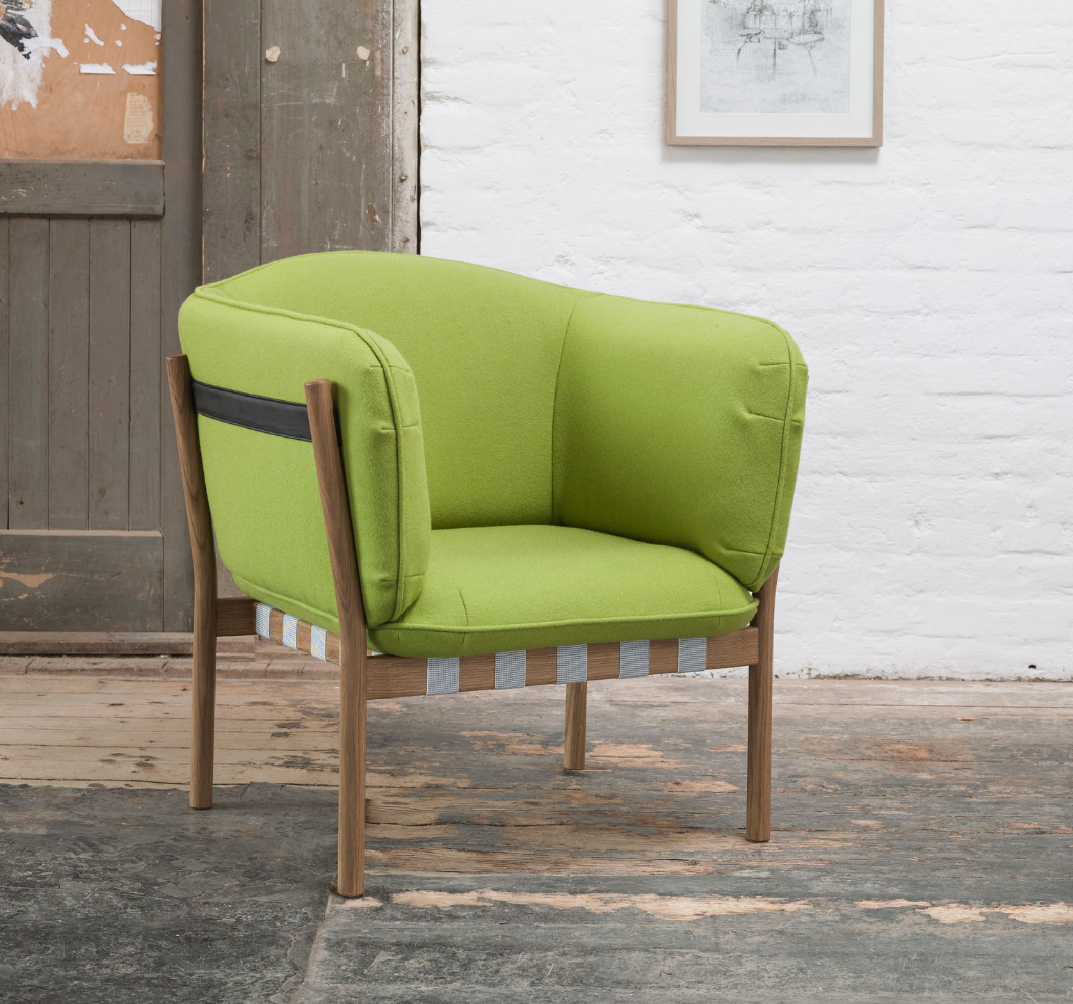 Dowel Lounge Armchair -   beech finish - $2,110 LIST