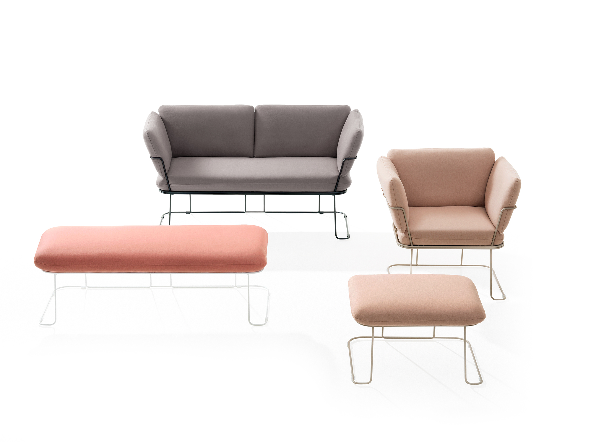 Merano chair and sofa from B-Line