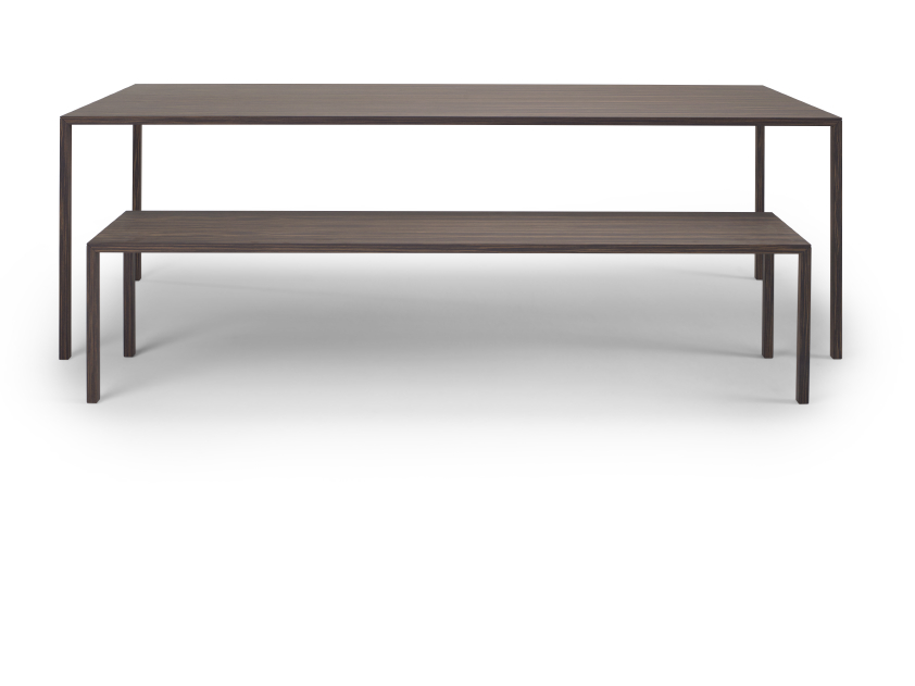 Slim table and Slim Bench by Arco